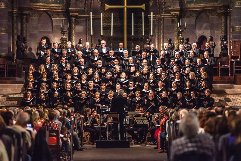 Adult choral society performing